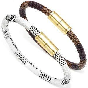 Jewelry - Monogram White and Brown Bangle Set [Unisex]
